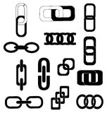 Link chain icons set Stock Photos