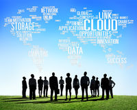 Link Cloud Computing Technology Data Information Concept Royalty Free Stock Photography