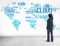 Link Cloud Computing Technology Data Information Concept Royalty Free Stock Image