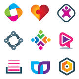 Link connection symbol icons of social media and network Royalty Free Stock Image