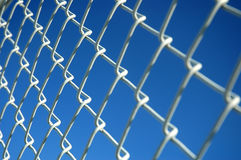 Link Fence. Chain link fence Royalty Free Stock Images