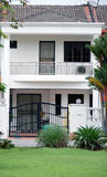 Link House in white. Link house in Kuala Lumpur stock photography