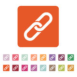 The link icon. Linked symbol. Flat Stock Photo