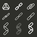 Link icon set. Royalty Free Stock Image