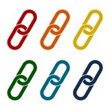 Link icons set. Vector icon Royalty Free Stock Photos