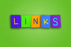 Link-Konzept Lizenzfreie Stockfotografie