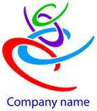 Link logo. Isolated line art link logo design Royalty Free Stock Photos