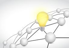 Link network connection light bulb illustration Stock Photo