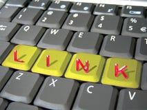 Link op een toetsenbord Stock Afbeelding