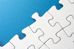 Link of puzzle pieces. Stock Images