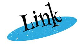 Link rubber stamp Stock Image