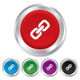 Link sign icon. Hyperlink symbol. Royalty Free Stock Photography