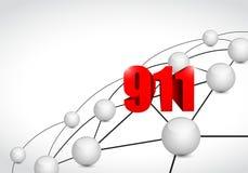 911 link sphere network connection concept. Illustration design graphic background royalty free illustration