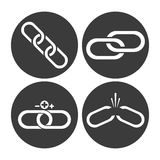 Link symbol design. flat illustration. connection concept Stock Photography