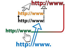 Link website URL web page Internet links Royalty Free Stock Photo