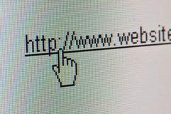 Link, zum von Web site zu entziehen. Stockfotos