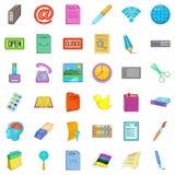 Linkage icons set, cartoon style. Linkage icons set. Cartoon set of 36 linkage vector icons for web isolated on white background Royalty Free Stock Photography
