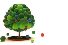 Linke Seite Toy Trees Stockfoto