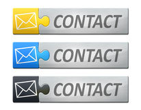 Linked banner contact Royalty Free Stock Photography