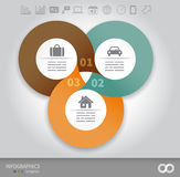 Linked circles presentation template Stock Photography