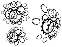 Linked cogwheels Royalty Free Stock Image