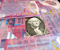 Linked exchange rate system of Hong Kong Stock Image
