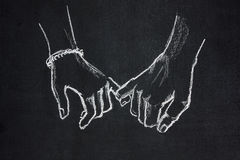Linked fingers Royalty Free Stock Photos