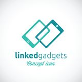 Linked Gadgets Abstract Vector Concept Icon Stock Photography