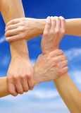 Linked hands Royalty Free Stock Photography