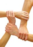 Linked hands Royalty Free Stock Images