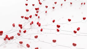 Linked Heart Lines Royalty Free Stock Image