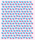 Linked hearts background wallpaper template. Vector image of a repeat pattern of hearts together on pink background Royalty Free Stock Photo