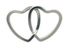 Linked hearts Stock Photos