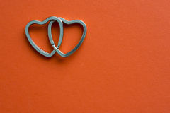 Linked hearts Royalty Free Stock Images