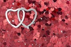 Linked hearts Royalty Free Stock Photo