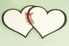 Linked hearts royalty free stock photos