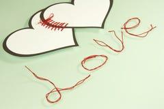 Linked hearts Royalty Free Stock Image