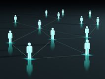 Linked light 3d people Royalty Free Stock Image
