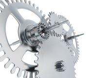 Linked metal gears Stock Photo