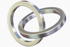 Linked metal rings Stock Image
