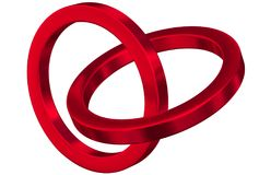 Linked metal rings Stock Photo