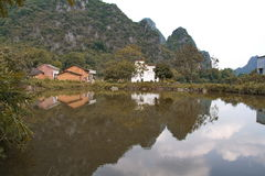 Are linked by mountains and rivers and. Back to the mountain water, good scenery Stock Photo