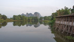 Are linked by mountains and rivers and  2. Back to the mountain water, good scenery Stock Photography