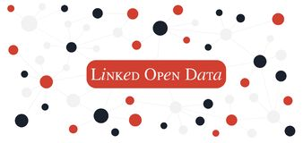 Linked Open Data concept. Web3.0 technology for the semantic web. Linked data is an approach to publishing and sharing data on the web. Linked Data is one of vector illustration