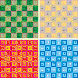 Linked squares variation Royalty Free Stock Photo