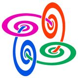 Linked swirls Royalty Free Stock Image