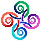 Linked swirls. Isolated illustrated design royalty free illustration
