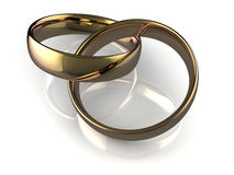 Linked wedding rings Stock Image
