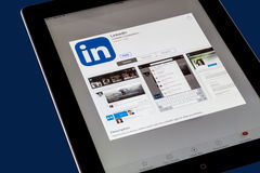 LinkedIn Photographie stock
