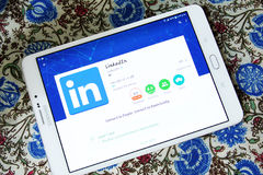 Linkedin androïde mobiele app Stock Afbeelding
